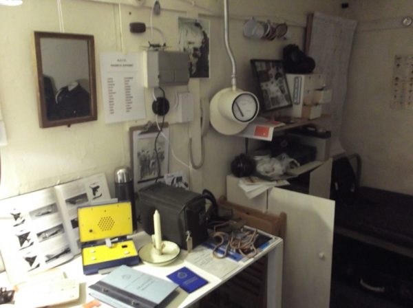 Inside the bunker