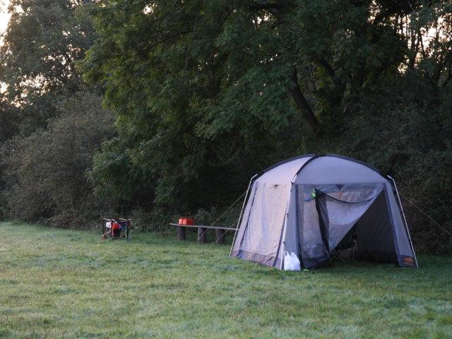 Sunday morning - tent generator