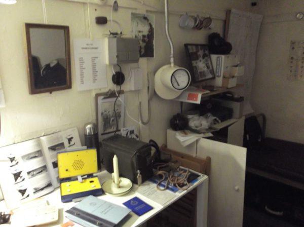 Inside the bunker