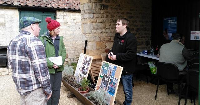 Darren M0PYU talking to visitors at GB0WM